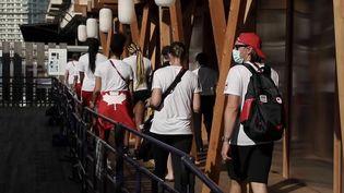 JO de Tokyo : les athlètes découvrent le village olympique. (FRANCE 2)