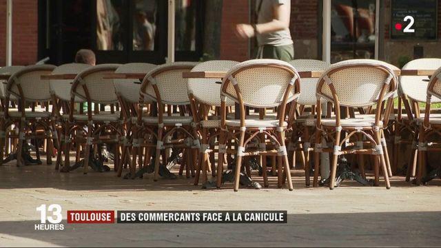Canicule : à Toulouse, les rues sont désertes et les commerçants inquiets