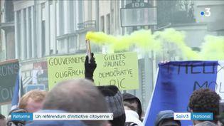 """Des """"gilets jaunes"""" réclamant le RIC (France 3)"""
