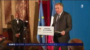 Le MoDem de François Bayrou est visé par une enquête. (FRANCE 3)