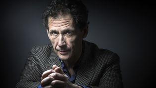"""L'écrivain suédois David Lagercrantz, auteur de la suite de """"Millénium"""" (31 mars 2016)  (Joël Saget / AFP)"""