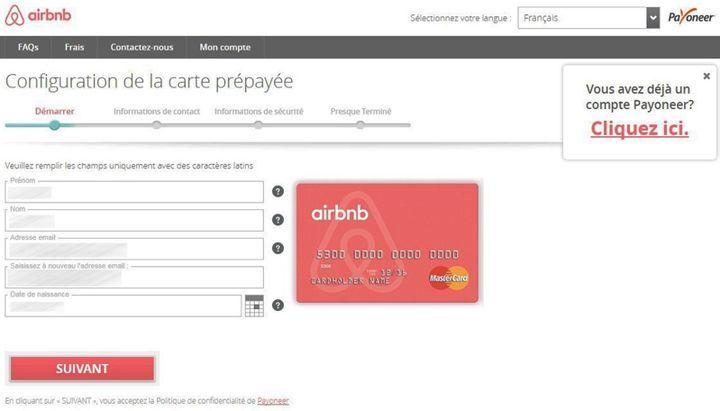 Les loueurs peuvent souscrire gratuitement à cette carte directement sur le site Airbnb. (CAPTURE D'ECRAN)
