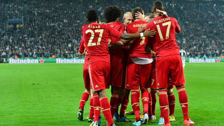 Le Bayern célèbre sa qualification (GIUSEPPE CACACE / AFP)