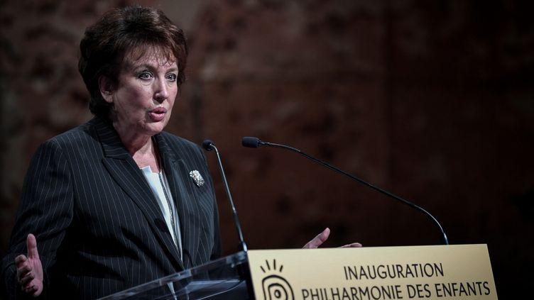 La ministre de la Culture à l'inauguration de la Philharmonie des enfants à Paris, le 23 septembre 2021 (STEPHANE DE SAKUTIN / AFP)