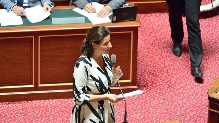 La ministre de la Santé Agnès Buzyn au Sénat le 23 juillet 2019. (DANIEL PIER / NURPHOTO / AFP)