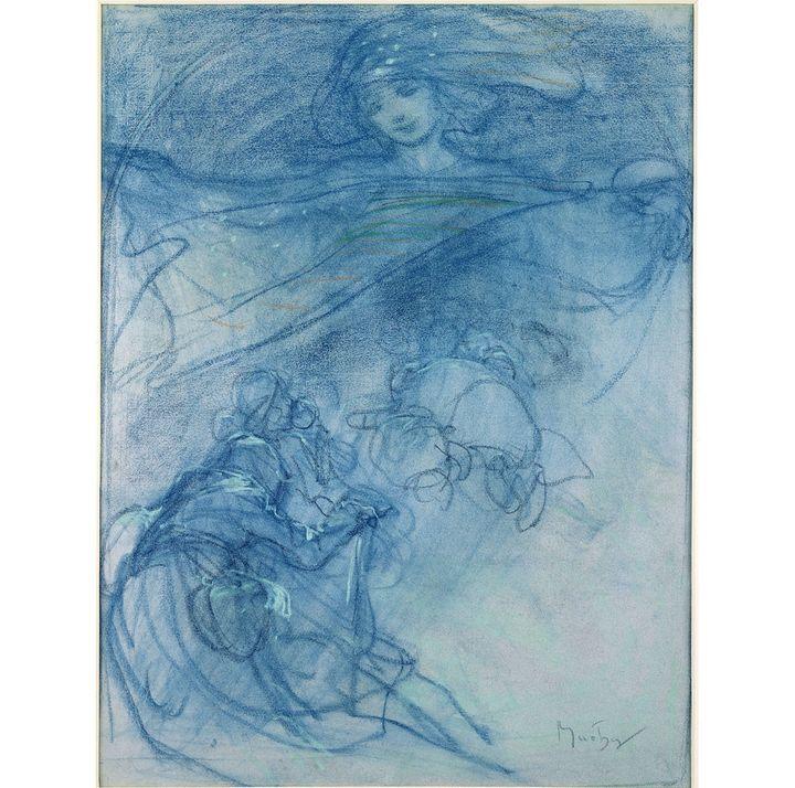 "Alphonse Mucha, ""Nuit sainte"", c.1900, pastel sur papier, Fondation Mucha, Prague  (Mucha Trust 2018)"