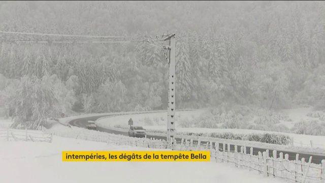 Tempête Bella : la neige s'est invitée sur l'A75, rendant la circulation extrêmement difficile