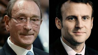 Bertrand Delanoë et Emmanuel Macron, photographiés respectivement le 4 décembre 2015 et le 13 avril 2016. (JOEL SAGET / AFP)