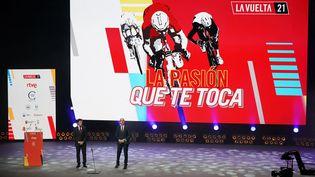 La présentation du Tour d'Espagne 2021, le 11 février 2021 (CESAR MANSO / AFP)