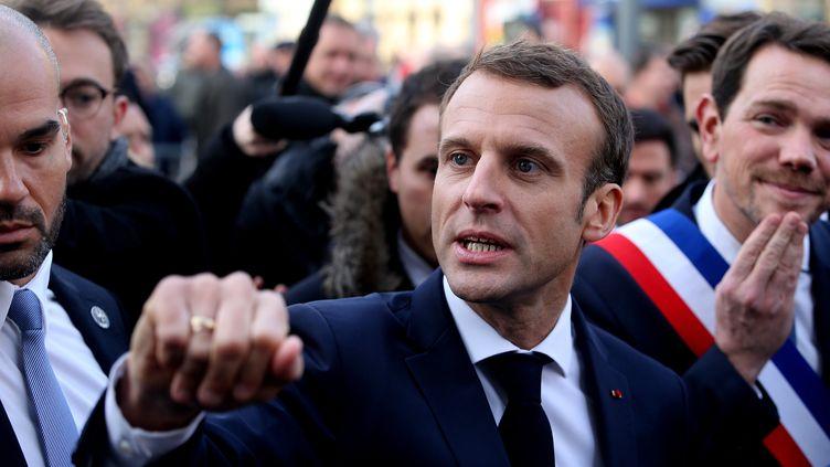 Le président de la République Emmanuel Macron à son arrivée à Charleville-Mézières (Ardennes) pour assister à un Conseil des ministres délocalisé, le 7 novembre 2018. (FRANCOIS NASCIMBENI / AFP)