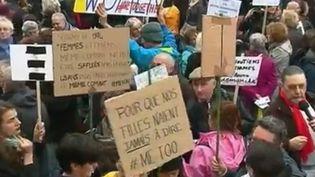 Pour lutter contre le harcèlement sexuel et libérer la parole des victimes, plusieurs rassemblements ont eu lieu à travers toute la France ce dimanche 29 octobre. (FRANCE 2)