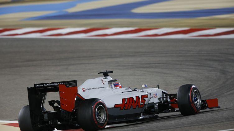 Romain Grosjean au volant de la Haas-Ferrari (FLORENT GOODEN / DPPI MEDIA)