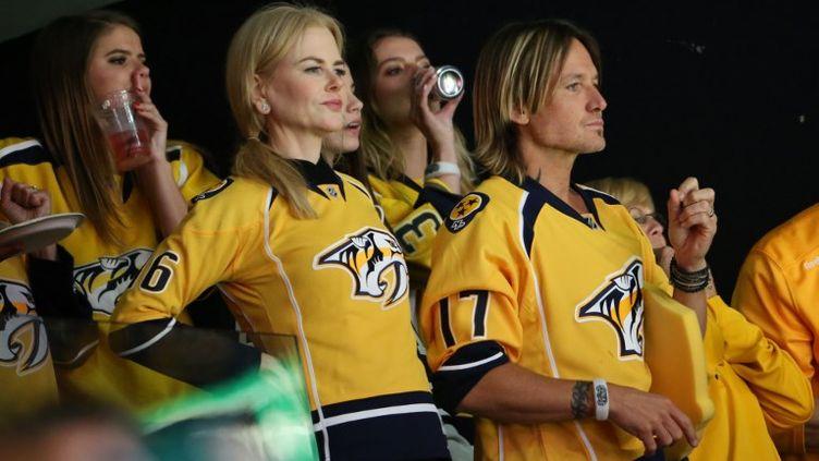 Nicole Kidman et les supporters de Nashville (TERRY WYATT / GETTY IMAGES NORTH AMERICA)