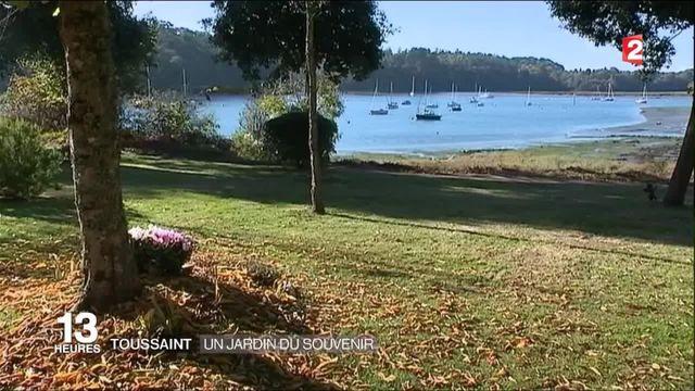 Toussaint : un jardin où les défunts reposent au pied des arbres