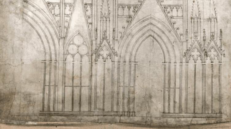 Dessin cathédrale de Strasbourg  (Culturebox/France3)