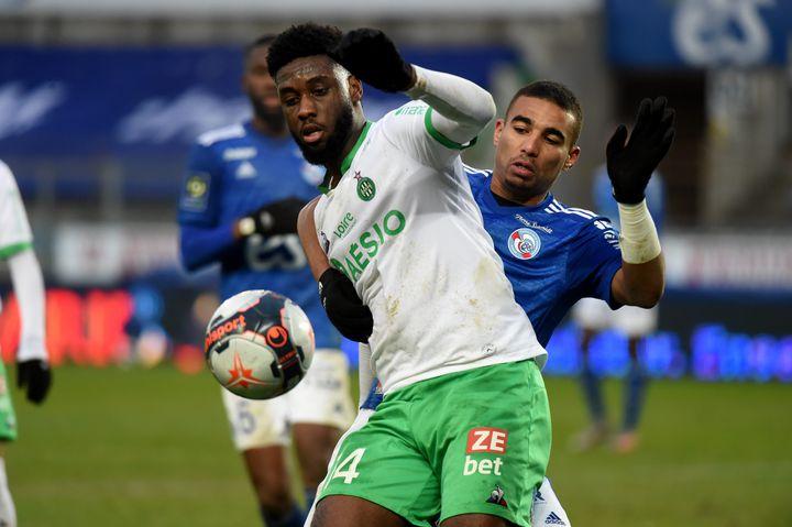 Jean-Philippe Krasso retourne à l'AS Saint-Etienne après avoir été prêté au Mans FC. (YVES SALVAT / MAXPPP)