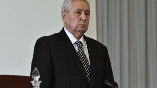 Abdelkader Bensalah, président de la chambre haute algérienne, le 9 avril 2019 à Alger. (RYAD KRAMDI / AFP)