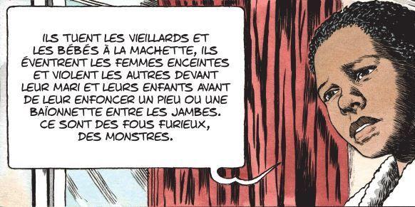 Extrait de la bande dessinée «Kivu» de Simon et Van Hamme (Le Lombard éditions) (Simon - Van Hamme / Le Lombard)
