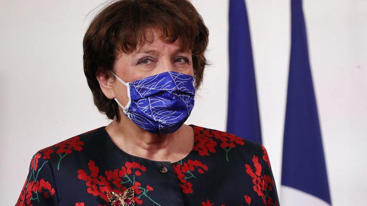 La ministre de la Culture Roselyne Bachelot, le 11 février 2021 à Matignon (FRANCOIS MORI / AFP)