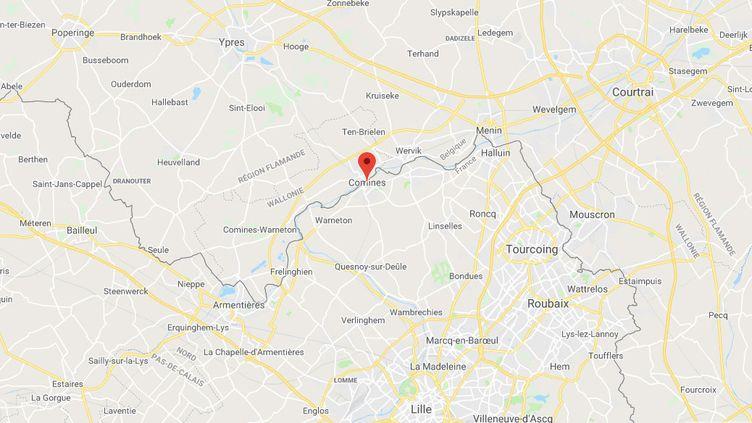 Comines, dans le Nord, près de la frontière avec la Belgique. (CAPTURE D'ECRAN GOOGLE MAPS)