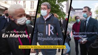 Jean Rottner (LR), président de la région Grand Est, va briguer un nouveau mandat aux prochaines élections régionales. À droite, certains lui reprochent sa proximité avec la majorité présidentielle, ce qui pourrait profiter au Rassemblement national. (FRANCEINFO)