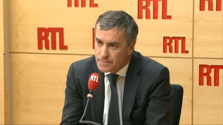 Jérôme Cahuzac, le 21 mai 2013, dans les locaux de RTL, à Paris. (RTL / FRANCETV INFO)