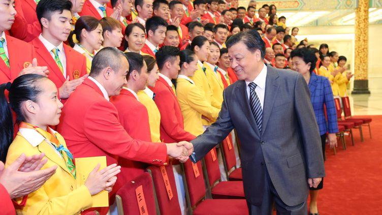 La délégation chinoise pour les Jeux Olympiques de Rio, le 18 juillet 2016 à Pékin. (YAO DAWEI / XINHUA)
