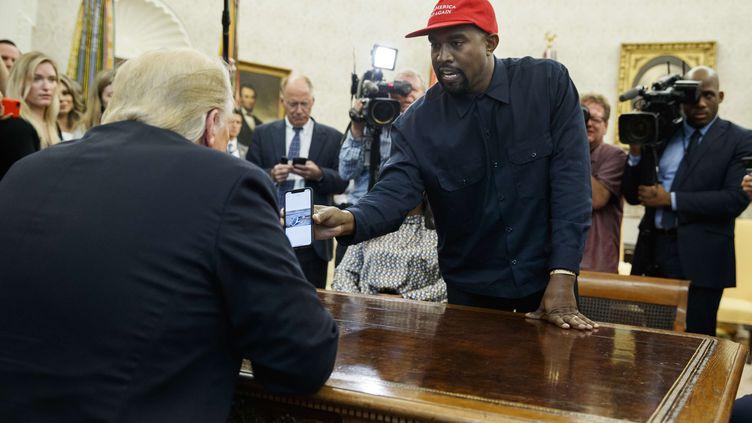 Le rappeur Kanye West à la Maison Blanche à Washington, le 11 octobre 2018. (EVAN VUCCI/AP/SIPA / AP)