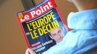 """La une du magazine """"Le Point"""", le 22 mai 2014. (BASTIEN HUGUES / FRANCETV INFO)"""