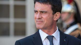 Manuel Valls lors d'une conférence de presse à Matignon (Paris), le 18 avril 2016. (CITIZENSIDE/ YANN KORBI / AFP)