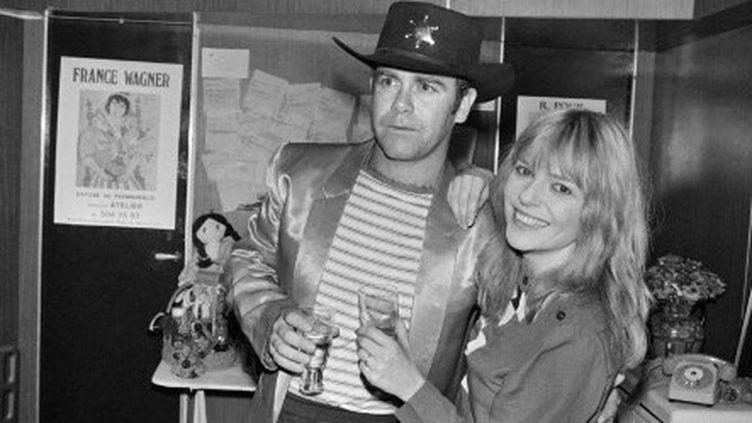 Le 22 janvier 1982, France Gall et Elton John partageaient l'affiche du Palais des Sport.  (PHILIPPE WOJAZER / AFP)