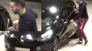 Les images de vidéosurveillance sur lesquellesMohamed Abrini a été identifié, en compagnie de Salah Abdeslam, dans une station-service de l'Oise, le 11 novembre 2015. (POLICE FEDERALE BELGE)