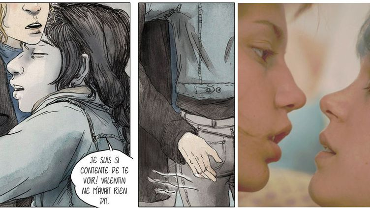 """""""La vie d'Adèle"""" d'Abdellatif Kechiche, Palme d'Or à Cannes, est adapté de """"Le bleu est une couleur chaude"""" (Glénat 2010), de Julie Maroh  (Culturebox avec Wild Bunch Distribution et Julie Maroh)"""