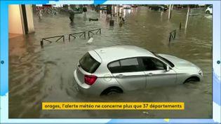Le centre de Laval inondé le 14 octobre 2019 (FRANCEINFO)