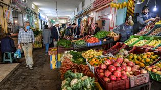 Le marché de Sidi Bouzid, le 28 octobre 2020. (FETHI BELAID / AFP)