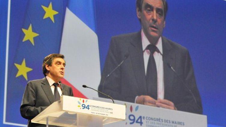 François Fillon au congrès des maires (novembre 2011) (Zaer BELKALAI / citizenside.com)