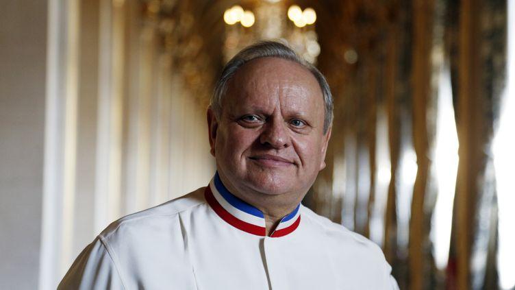 Le chef Joël Robuchon à Paris le 14 janvier 2016. (FRANCOIS GUILLOT / AFP)