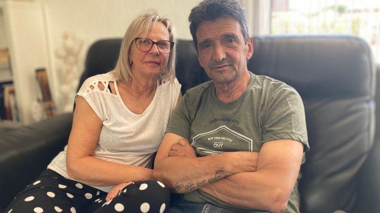 Violette et Lucien Douib, parents de Julie, assassinée par son ex-conjoint en mars 2019. (Margaux Stive)