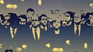 """Détail de la """"La Marche"""" deTaysir Batniji exposée à l'été photographique de Lectoure (32)  (France 3 / Culturebox / Taysir Batniji )"""