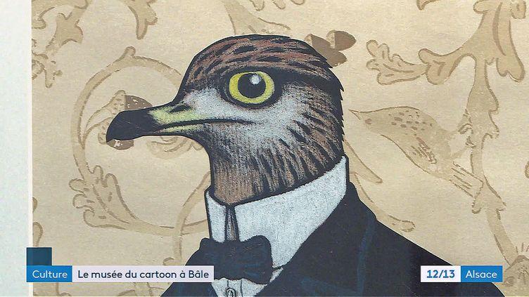 """Un des dessins de l'exposition """"Wonderland"""" (France Télévisions)"""