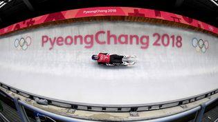 Le lugeur autrichien Wolfgang Kindl, lors d'une session d'entraînement, le 8 février 2018 à Pyeongchang (Corée du Sud), le 8 février 2018. (MARK RALSTON / AFP)