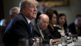 Le président américain, Donald Trump, le 1er novembre 2017 à la Maison Blanche, à Washington (Etats-Unis). (WIN MCNAMEE / GETTY IMAGES NORTH AMERICA / AFP)
