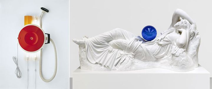 (Hoover Celebrity III (1980 Photo : Douglas M. Parker Studios, Los Angeles The Museum Of Contemporary Art, Los Angeles, Gift Of Lannan Foundation) et Gazing Ball (Ariadne, 2013 - Photo : Tom Powel Imaging Monsoon Art Collection) © Jeff Koons)