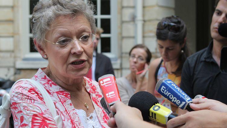 La Prix Nobel de médecin 2008, Françoise Barré-Sinoussi, le 19 août 2010 à Paris. (PIERRE VERDY / AFP)