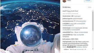 Capture d'écran d'une publication de l'artiste Robert Jahns, alias Nois7, sur son compte Instagram. (INSTAGRAM / NOIS7)