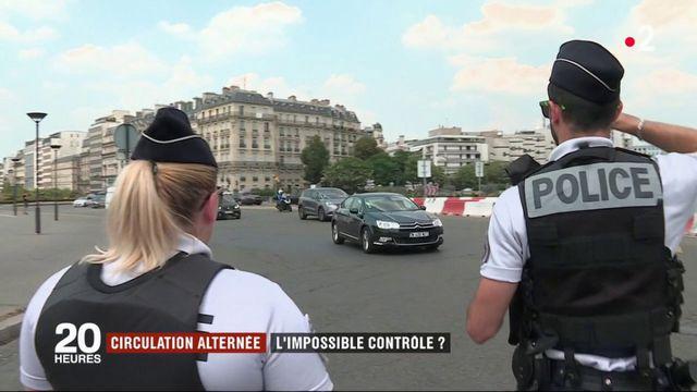 Circulation alternée : la complexité des contrôles de police