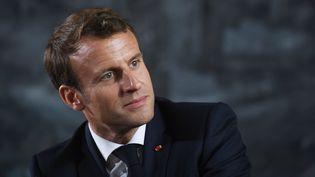 Emmanuel Macron, à Ornans (Doubs), le 10 juin 2019. (SEBASTIEN BOZON / AFP)