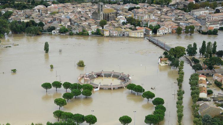 """Illustration """"Pièces à conviction"""". Inondations dans l'Aude : la difficile reconstruction. (SYLVAIN THOMAS / AFP)"""