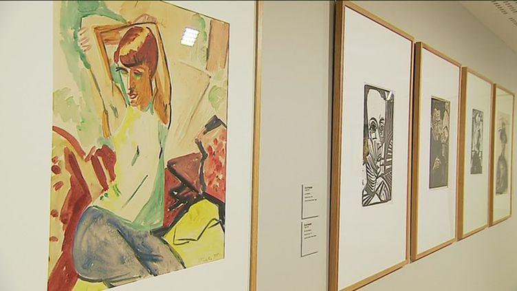"""Exposition """"L'expressionnisme Allemand"""" au Palais Lumière d'Evian (Palais Lumière Evian / France 3 Alpes I. Colbrant / A. Massait-Salamanca)"""