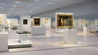 La galerie du temps au Louvre Lens : une gratuité qui est pour beaucoup dans la fréquentation record  (DENIS CHARLET / AFP)